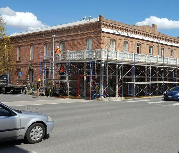 Commercial Scaffolding in Jackson County at Commercial Bank
